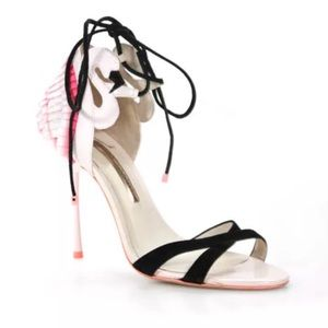 Sophia Webster Pleated Back Flamingo Stiletto Heel